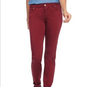 Celebrity Pink Women Burgundy Skinny Jeans